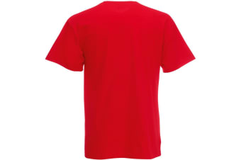 Fruit Of The Loom Mens Valueweight V-Neck  Short Sleeve T-Shirt (Red) (M)