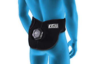 Ice20 Ice Therapy Back Hip Cold Compression Wrap Pain Relief w/ Strap & Mesh Bag