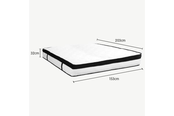 Laura Hill Queen Mattress with Euro Top - 32cm