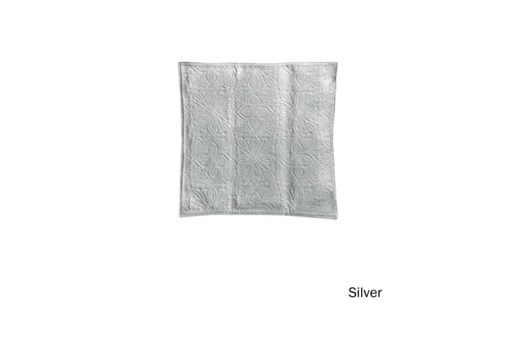 Tessa Embossed Cushion Cover Silver