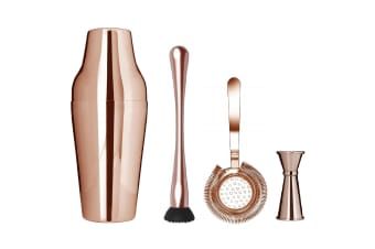 Uber Zeo Parisienne Copper Cocktail Shaker Set 650ml