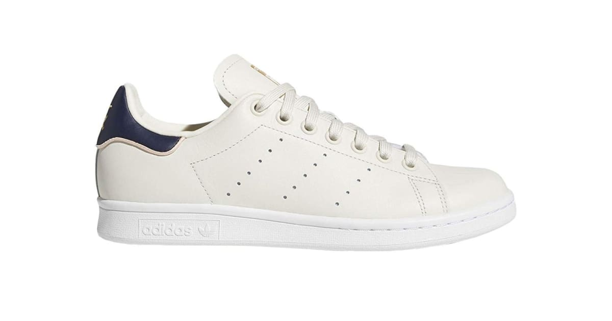 finest selection adf01 9b1ec Adidas Originals Women's Stan Smith Shoes (Chalk White/Collegiate Navy,  Size 5 UK) | Shoes