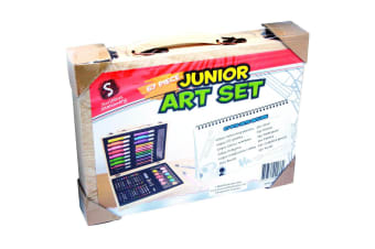67 Piece Junior Art Set in Wooden Carry Case