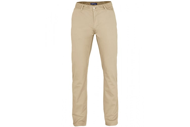 Asquith & Fox Mens Classic Casual Chinos/Trousers (Natural) (XSR)