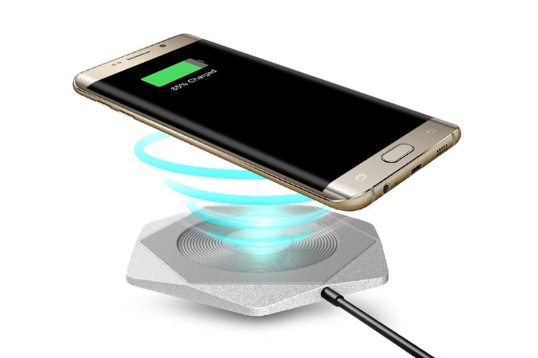 Romoss Hexa Qi Wireless Fast Charging Pad for Samsung Note 8/S8/iPhone X Silver