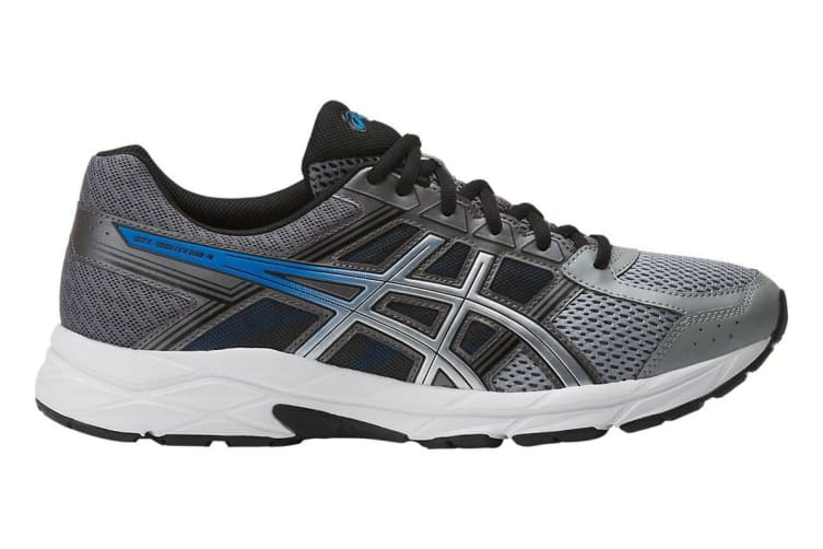 ASICS Men's Gel-Contend 4 Running Shoe (Carbon/Silver, Size 11)