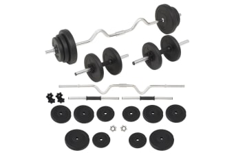 vidaXL Barbell and Dumbbell Set 30 kg
