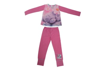 Me To You Childrens Girls Tatty Teddy Flowers Pyjama Set (Pink)