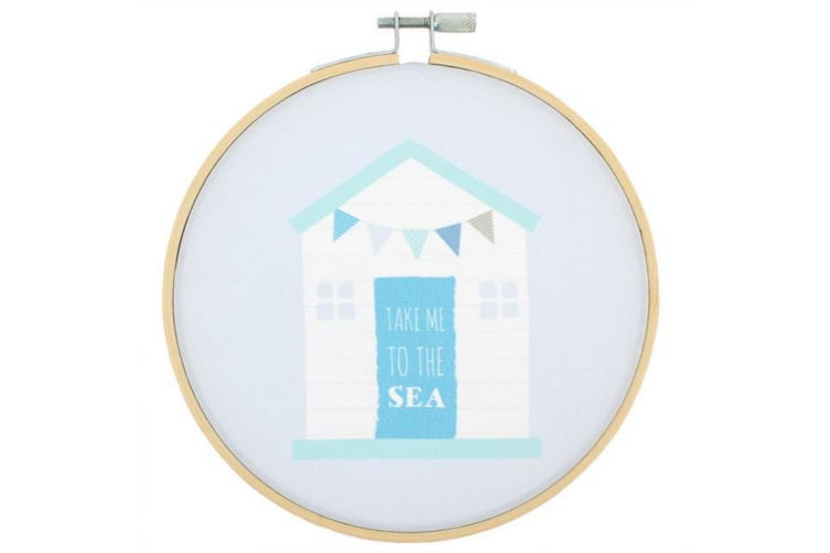 Something Different Beach Hut Decorative Hoop (Multicolour) (One Size)