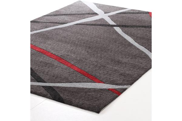 Abstract Lines Rug Charcoal 280x190cm