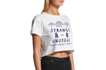 Beetlejuice Womens/Ladies Strange & Unusual Crop Top (White) (S)