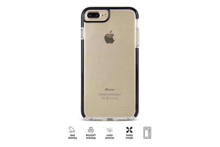 Gecko Ultra Tough/Slim Case/Cover Shock Absorbing For iPhone 6/6S/7/8 Plus Black