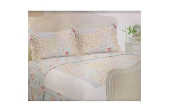 E Of W Utah Quilted Floral Bedspread With Pillowshams Bedding Set (Utah)
