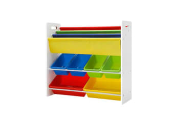 Artiss Kids Bookshelf Toy Storage Box Organizer Bookcase 3 Tiers Display Rack