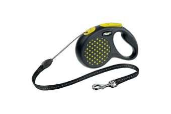 Bogdahn International Flexi Design Retractable Cord Dog Lead (Yellow Dot)