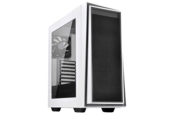 Silverstone RedLine RL06 Mid-Tower ATX Case White with Silver Trim + Acrylic Window (Without PSU)