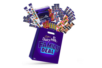 40pc Cadbury Family Deal Chocolates Showbag w/Boost/Cherry Ripe/Crunchie/Twirl