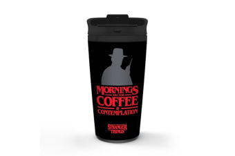 Stranger Things Travel Mug (Black/Red) (One Size)