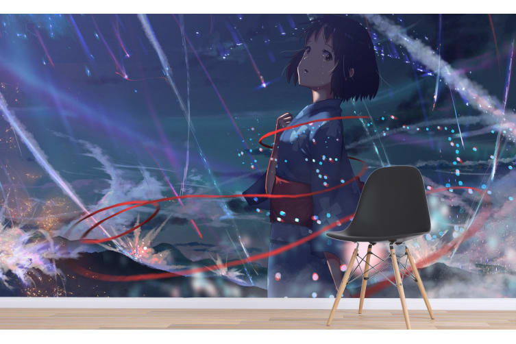 3D Your Name 081 Anime Wall Murals Woven paper (need glue), XXXXL 520cm x 290cm (WxH)(205''x114'')