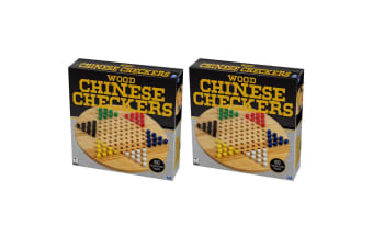 2PK Cardinal Classic Wood Chinese Checkers Wooden Board Game Set Kids/Children