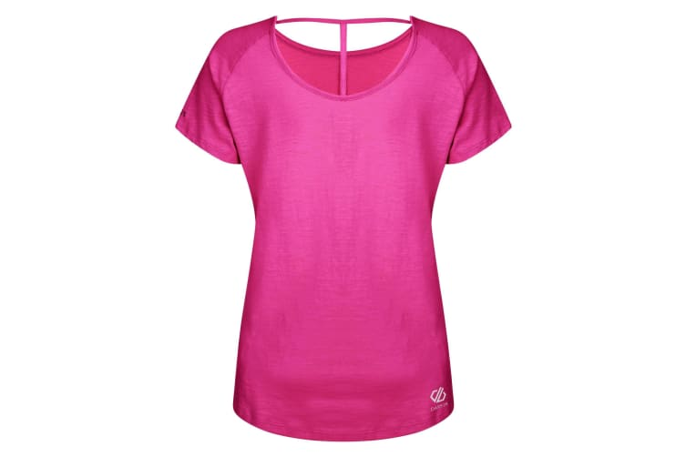 Dare 2B Womens/Ladies Astral Forest Cutout Neck T-Shirt (Cyber Pink) (8 UK)