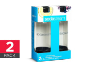 SodaStream Twin Pack 1L Carbonating Bottles (Black)