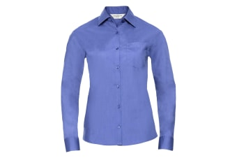 Russell Collection Ladies/Womens Long Sleeve Shirt (Corporate Blue) (S)