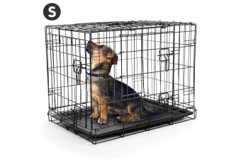 Foldable Steel  Pet Cage Crate Kennel House - 24in