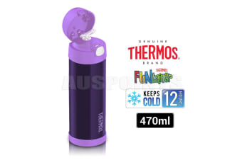 Thermos 470ml Drink Water Bottle [Color: Purple]
