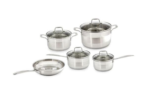 Westinghouse 5 Piece Non-Stick Stainless Steel Cookware Set