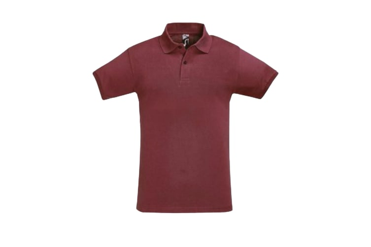 SOLS Mens Perfect Pique Short Sleeve Polo Shirt (Burgundy) (S)