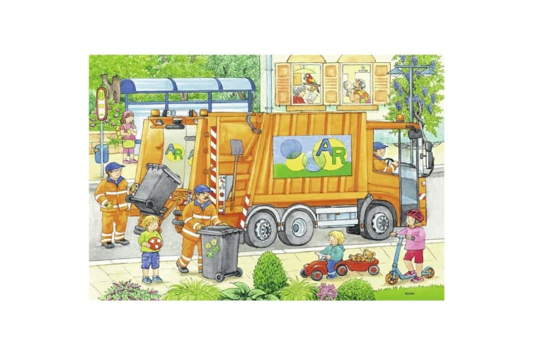 Ravensburger Street Cleaning Underway Puzzle - 2 x 12 Piece