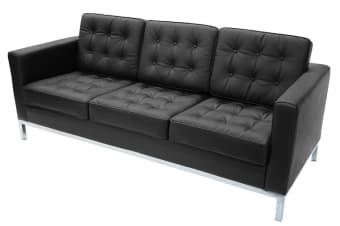 Replica Florence Knoll Lounge Chair 3 Seat | Black