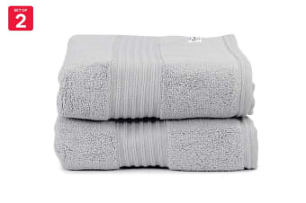 Onkaparinga Ultimate 100% Turkish Cotton Bath Mat Set of 2 (Silver)