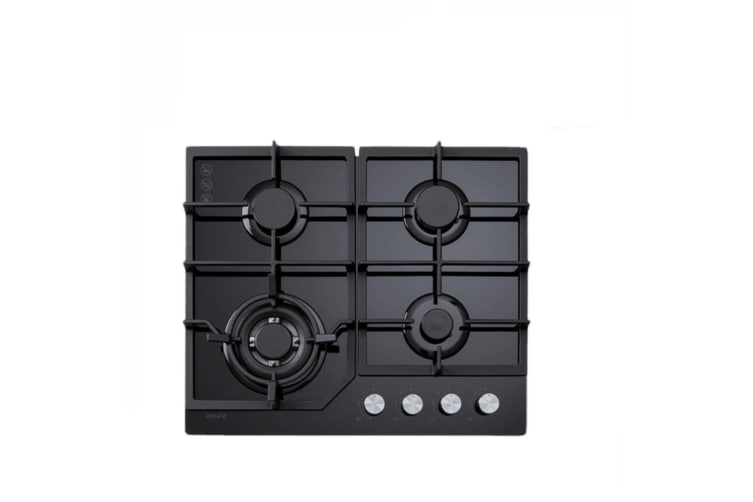 Euro Cooktop (Gas) 600mm Black Glass ECT600GBK