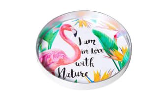 Kitchen Warehouse Summer Serving Tray 37x4.5cm Flamingo