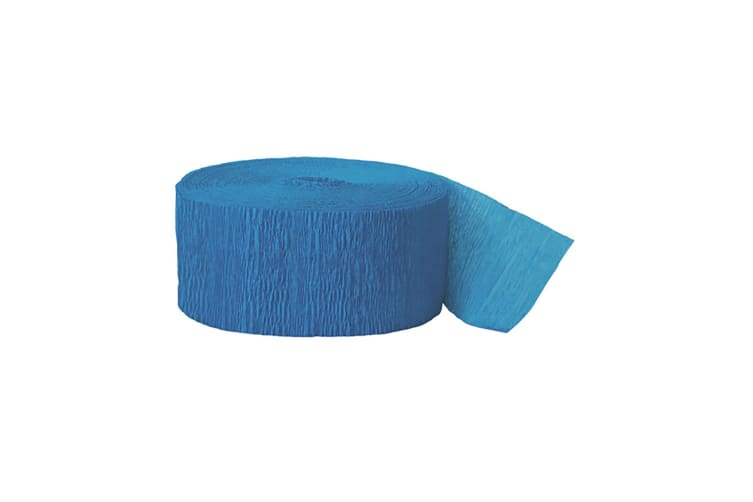Unique Party Crepe Streamer Roll (81ft) (Turquoise) (One Size)