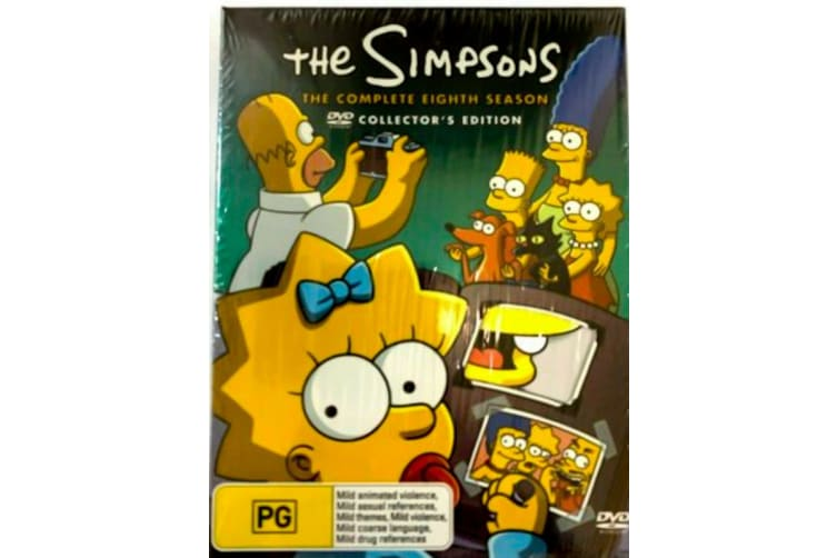 The Simpsons : Season 8 Eighth - Collectors Edition -Animated Series Preowned DVD: DISC LIKE NEW