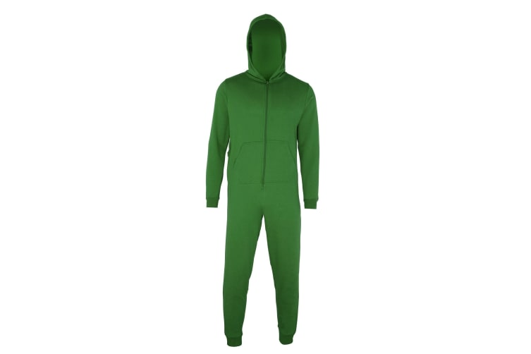 Comfy Co Childrens Unisex Plain All In One / Onesie (Kelly Green) (5-6 Years)