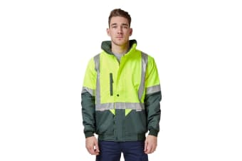 Hard Yakka Two Tone Quilted Flying Jacket (Yellow/Green)