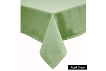 Cotton Blend Table Cloth 230cm Round - REED GREEN