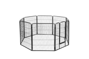 8 Panel Portable Pet Playpen (Black)