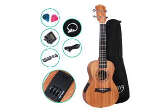 "26"" Electric Tenor Ukulele Mahogany Ukuleles Uke Hawaii Guitar EQ Tuner"