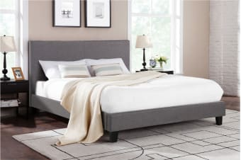 Shangri-La Bed Frame - Ravello Collection (Dark Grey, Queen)