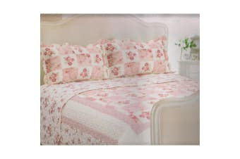 E Of W Colorado Quilted Floral Bedspread With Pillowshams Bedding Set (Colorado)