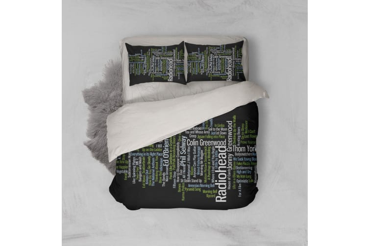 3D Band Radiohead Quilt Cover Set Bedding Set Pillowcases 68-Double