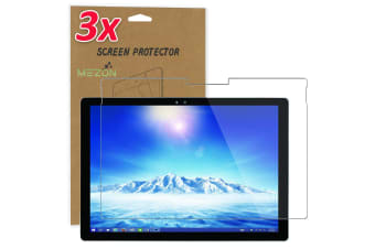 "[3 Pack] Microsoft Surface Pro 7 (12.3"") Ultra Clear Film Screen Protector by MEZON – Case and Surface Pen Friendly, Shock Absorption"