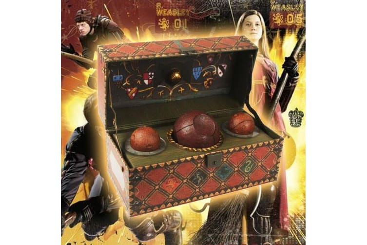 Harry Potter Collectible Quidditch Set – Official Balls Quaffle Bludgers Snitch Gift Box Hogwarts Magic