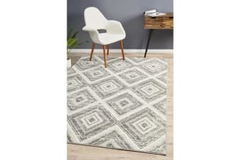Felicia Silver & Ivory Soft Vintage Look Rug