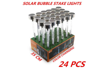 24 x Colorful LED Garden Stake Light Solar Powered Landscape Path Lawn Yard Lamp 35cm